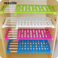 Vanzlife Generation Upgrade Wardrobe Storage Rack Cabinets Kitchen Partition Nail Free Telescopic Spacer Frame