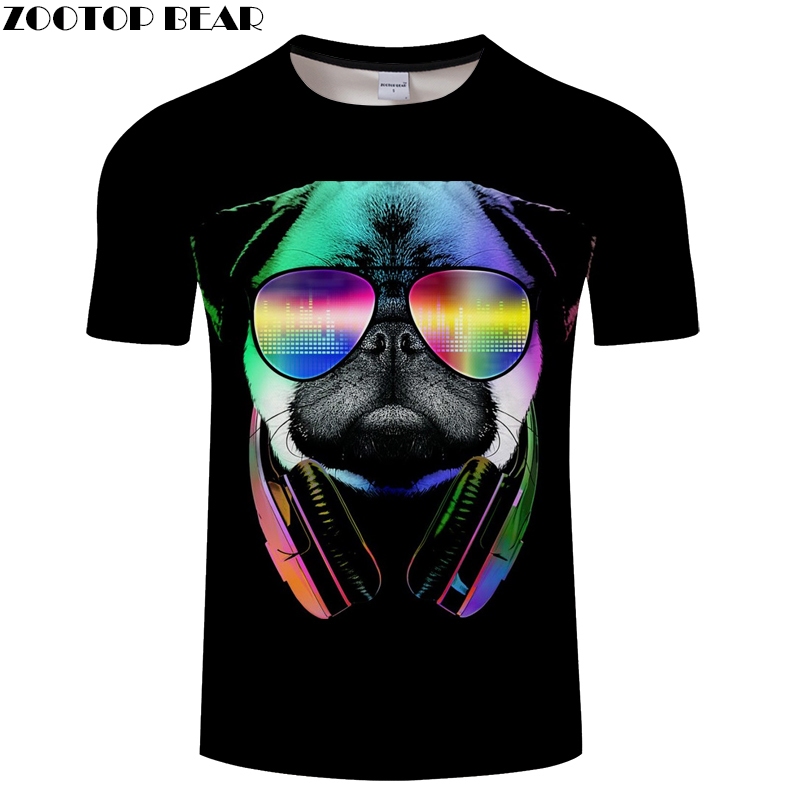 Glasses Bear tshirts Funny t shirt Men t-shirt 3D tee Anime Top Fashion Camiseta Casual Short Sleeve O-neck Drop Ship ZOOTOPBEAR