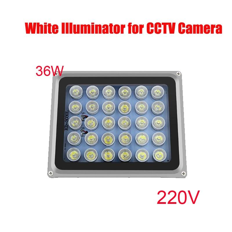 Free Shipping 36w 30pcs high power Array white-light LED illuminator Light CCTV цена