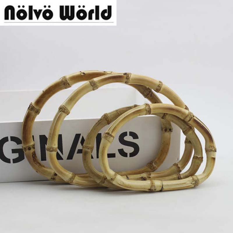 5 pairs=10 pieces,2 Size 13.5cm 17cm Natural bamboo handles for women bags,D shaped knit bag handbags bamboo handle цены
