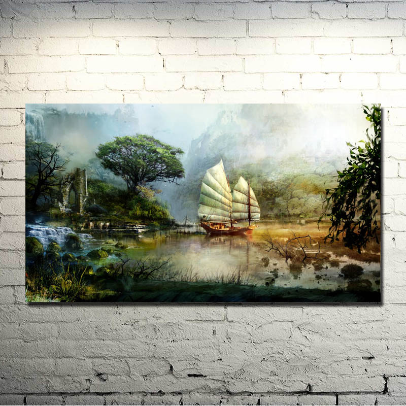 Guild Wars 2 Game Art Silk Poster Print 13x24 24x43 inches Pictures For Bedroom Living Room Decor 007