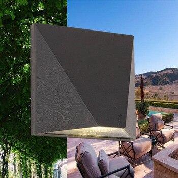 Applique murale Design carré Aluminium B placage couverture COB LEDS applique lumière couloir café éclairage intérieur étanche