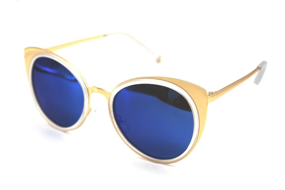 Cat Eye Polarized Sunglasses Color BLUE Lenses Tac...