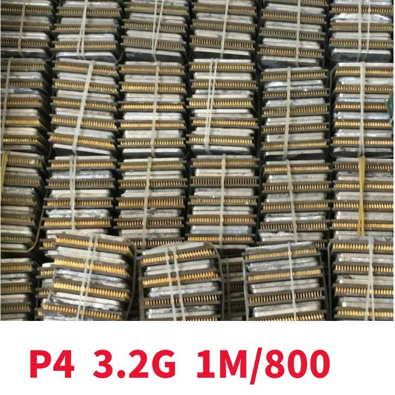 Intel Pentium 4 PC Computer  P4 3.20GHZ 1M 800  P4 3.2GHZ P4 3.2 3.2G 3.20G 3.2E CPU Desktop Processor Socket 478