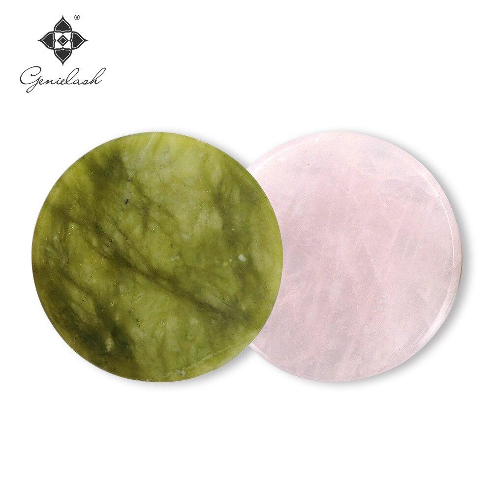 10pcs/lot Round Jade Stone Eyelash Extension Glue Adhesive Pallet Stand Holder False Eyelash Makeup Tool