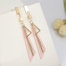 Silver Gold Color Zinc Alloy Triangle Long Trendy Ethnic Romantic Elegant Women Hanging Drop Dangle Earrings neil williamson elaine gallagher cameron johnston thirty years of rain