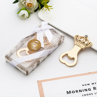 100pcs lot Silver gold crown beer bottle opener anniversary souvenir birthday favor wedding company party bridesmaid gift