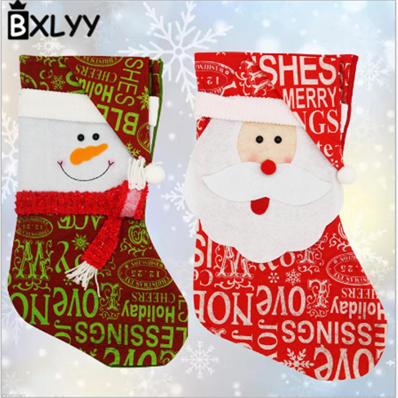 name printed christmas socks size 254120cm manual measurement slight error weight 50g style snowman santa claus material woolen cloth