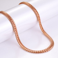 Trendy Rose Gold Filled Chain For Men Women Jewelry Wholesale 18K Stamp Necklace Snake Chain 6MM