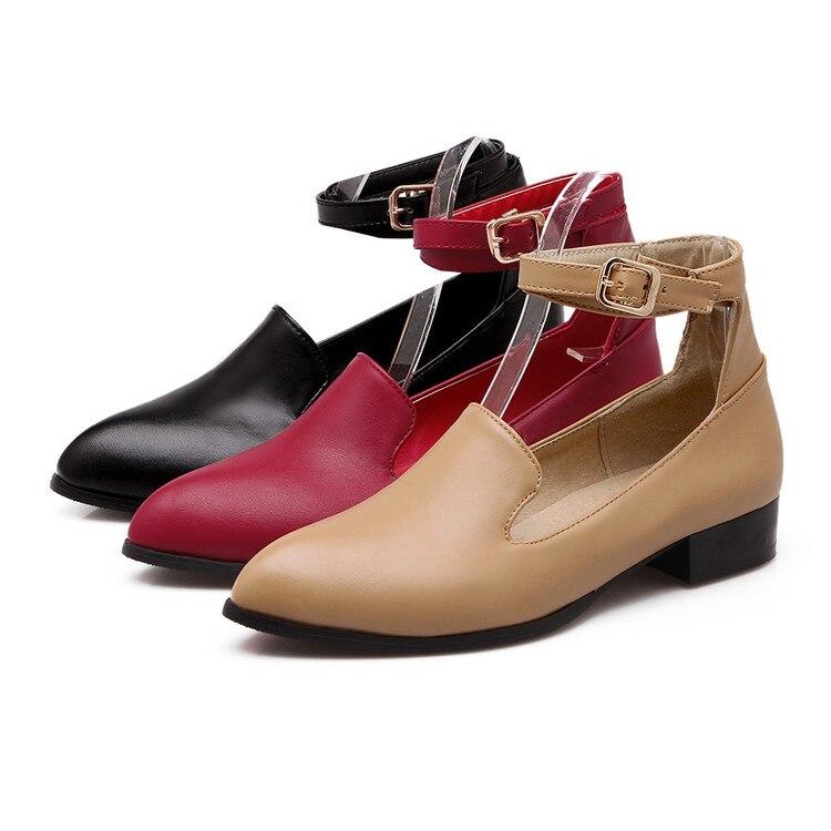 Automne 51 apricot 34 rouge Sapato Chaussures Chaussure Taille 2017 Femme 1062 Noir Femmes Mode Feminino Gladiateur Printemps Plus La Style vHxnxEq1zw