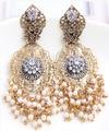Moda vintage pendientes de perlas barroco de perlas huecas de bohemia borla pendientes grandes de novia granos de los colgantes de metal pendiente de las mujeres