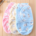 Baby Cartoon Swaddle Wrap Soft Envelope for Newborn Baby Blanket Swaddle Carters Flannel Sleeping Bag Infant Bedding