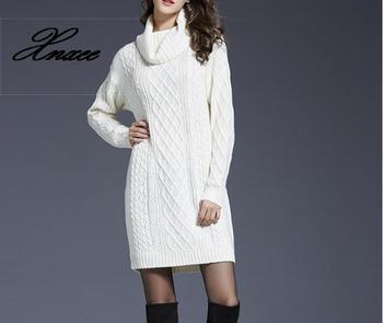 2020 Women's Large Size Women's Knit Dress Long Sweater Women