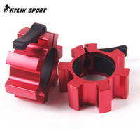50mm Fit Fitness Equipment Weightlifting Dumbbell Accessories Barbell Pole Weight Buckle Security 4 Colors