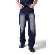Mcikkny Hip Hop Men's Fashion Baggy Jeans Straight Casual Jeans Male Streetwear Denim Skateboard Pants Size 30-44 men casual jeans plus size 40 38 42 44 46 male street dancer wwear skateboard hiphop baggy jeans man denim pants ashant