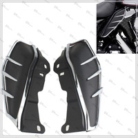 Motor Mid Frame Air Deflectors Trims For Harley Road King Classic FLHRC 2009 2013 Road King FLHR/Street Glide FLHX 2009 2015