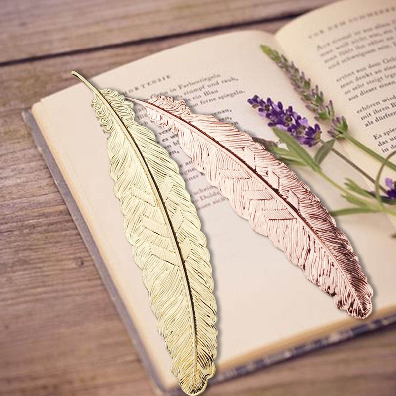 Creative Metal Feather Bookmark Chinese Style Vintage Page Nice Cool Book Markers School Supplies Party Wedding Gifts For Guests In Favors From Home