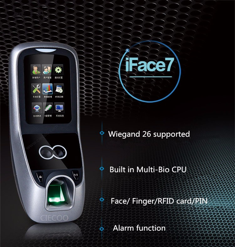 Iface7 ZK software Facial recognition and fingerprint access control with ID card iface7 with full accessories