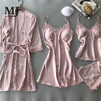 X019 MaiJee Sling Pajama Shorts Women's Nightdress Nightgown Bridal Robes Badjas Dames Szlafrok Bride sSexy Nightdress Kimono