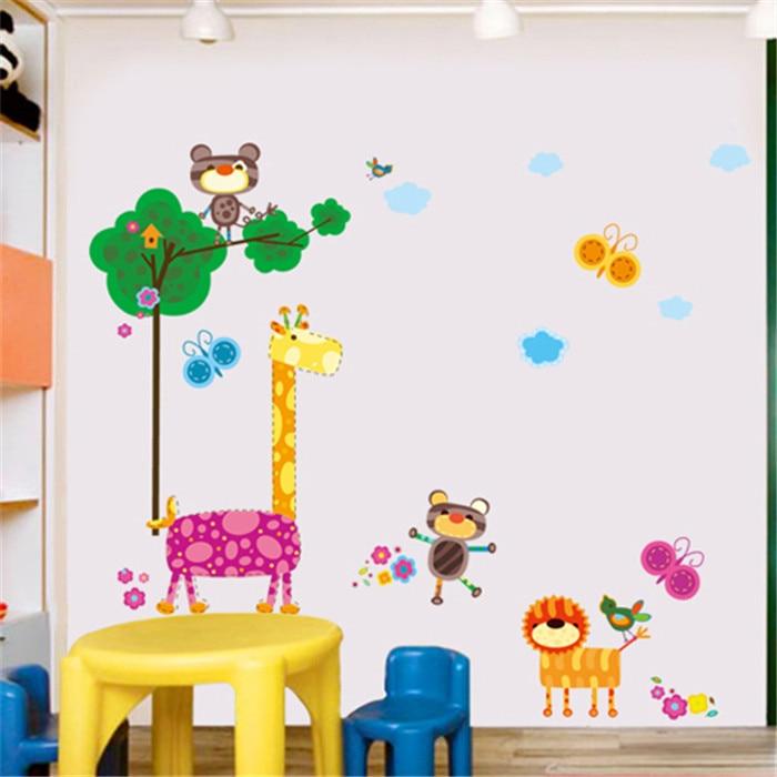 Large Cartoon Animal Giraffe Vinyl Removable Decal for Kids Nursery Bedroom Bathroom Home Decoration Mural PVC. Online Get Cheap Giraffe Bathroom Decor  Aliexpress com   Alibaba