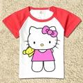 Children 100% Cotton T-shirts Kids Doraemon Kitty Cat Baby Boys Thomas Cartoon T Shirt Summer Girls Shirts Tops Tees Elsa Anna