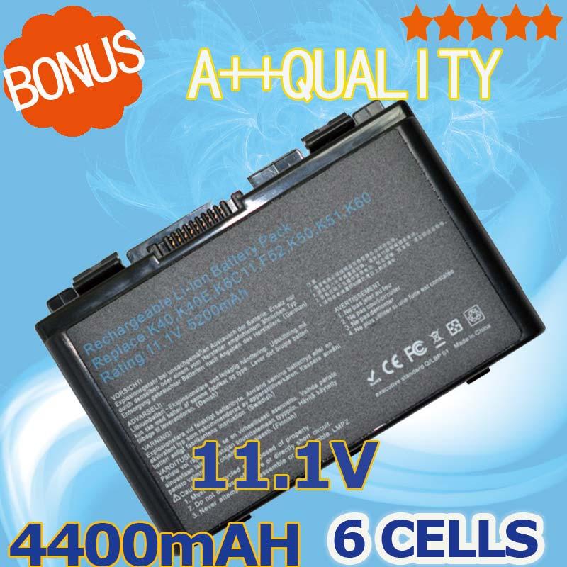 все цены на 4400mAh Battery For Asus a32-f82 a32-f52 a32 f82 F52 k50ij k50 K51  k50ab k40in k50id k50ij  K40 K42 k42j k50in k60 k61 k70 онлайн
