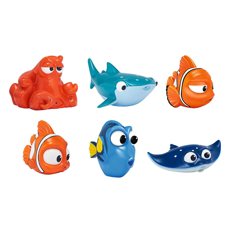 Kawaii Bath Toys Fish Toy Baby Bathroom Swimming Children Rubber Classic Educational Hobbies for Girls Kids Play Animals