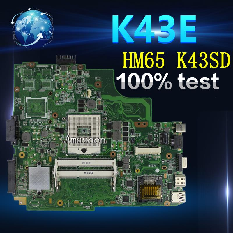 Amazoon  K43SD/K43E Laptop motherboard for ASUS K43E K43SD A43E P43E Test original mainboard HM65Amazoon  K43SD/K43E Laptop motherboard for ASUS K43E K43SD A43E P43E Test original mainboard HM65