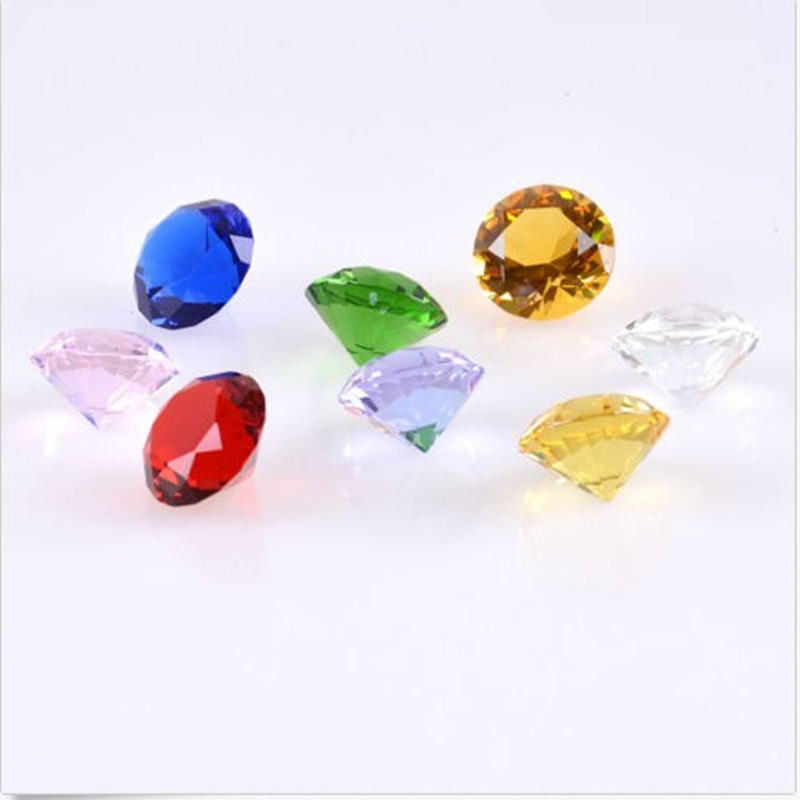 Mix color Crystal Machine Diamond Paperweight Phone Counter Jewelry Props Wedding Room Decoration Furnishings Gift