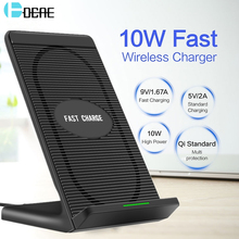DCAE 10W Qi Wireless Charger for iPhone 8 X XS Max XR Samsung S9 S8 Plus Mobile Phone Fast Charging Pad Docking Station