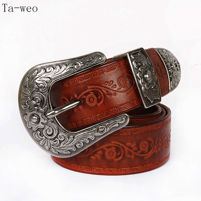 latest lady retro belt Punk 2.8CM personalized punk wide belt 100/% cow leather decorative belt cow genuine leather