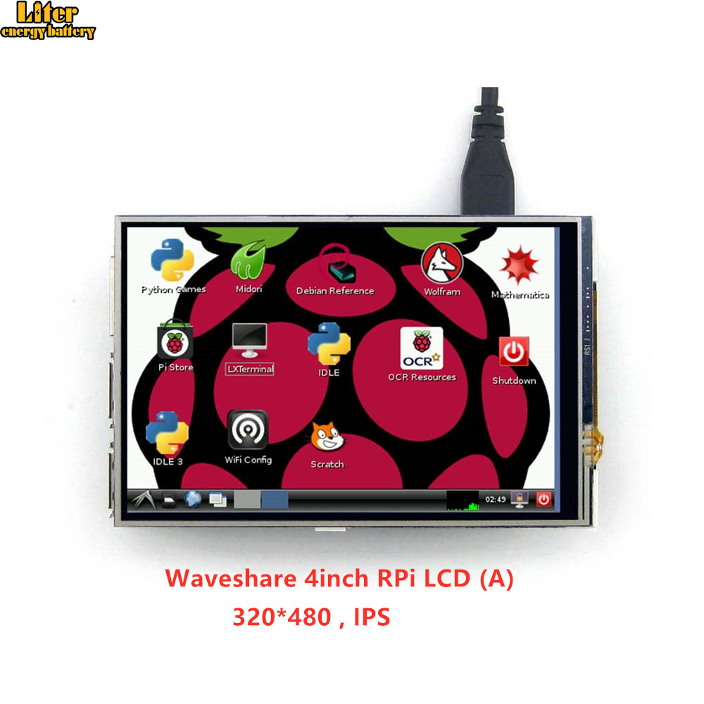 4inch RPi LCD (A) 320*480 TFT Resistive Touch Display Screen SPI Interface For All Rapsberry Pi