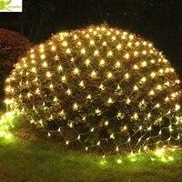 DHL 8 м x 10 м 2600 светодиодный новогодние гирлянды светодиодный строка Рыбная Ловля Чистый Свет Фея Рождество вечерние сад Свадебные украшения