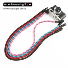 Hand-woven Mountaineering Nylon Rope Camera Shoulder Neck Strap Belt for Mirrorless Digital Leica Olympus Pentax Sony