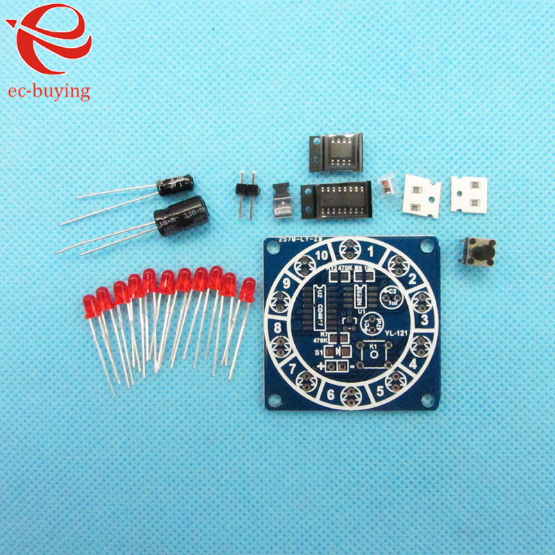 Round Lucky Rotary Suite Electronic Component Fortune CD4017 NE555 Interesting D