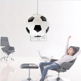 Gepersonaliseerde cartoon glazen voetbal hanglamp kind echte ...