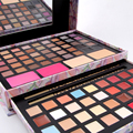 2 Opção de Cor Da Sombra Mulheres Bonitas Da Ásia e América Do Sul cosméticos Paleta de sombra Make Up Kit de Blush Brilho Labial corretivo