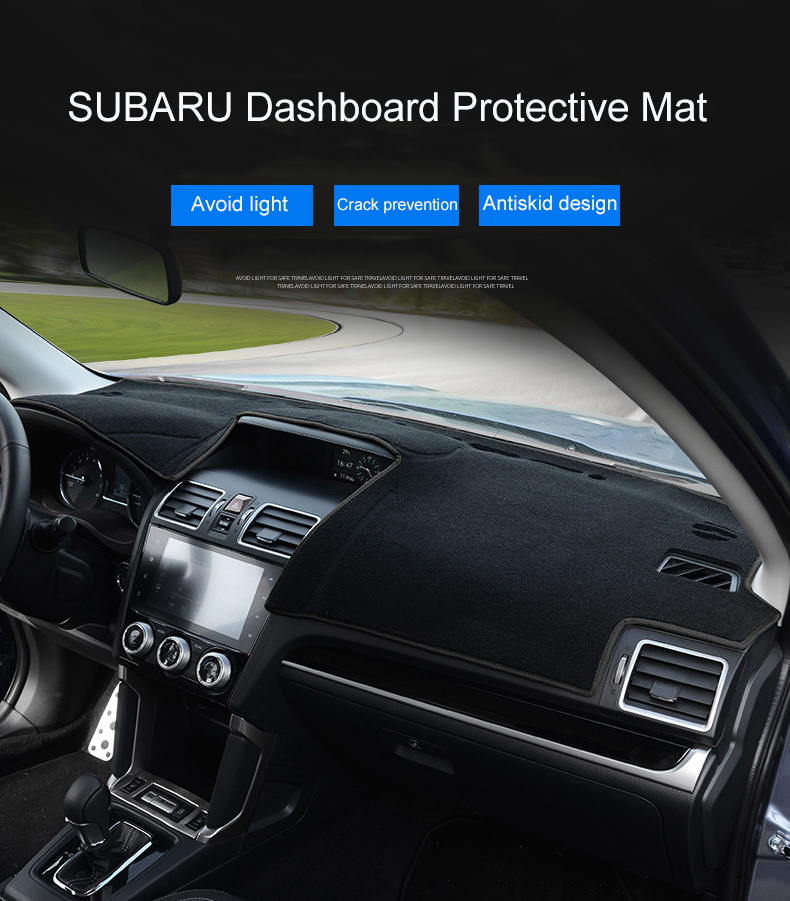 QHCP Car Dashboard Avoid Light Pad Instrument Platform Desk Cover Mats  Carpets Car Styling For Subaru Forester Outback Legacy XV-in Interior  Mouldings