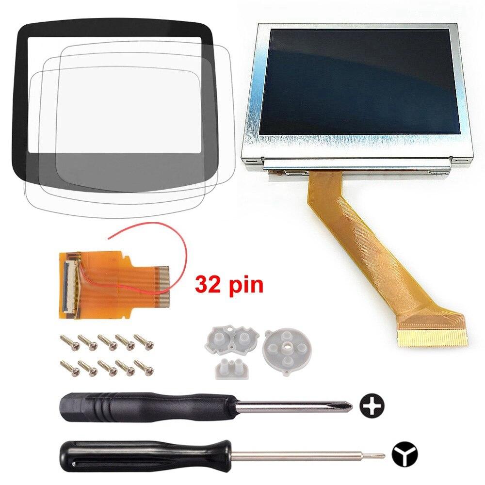 Pour Gameboy Advance MOD LCD rétro-éclairage 32Pin GBA SP AGS-101 écran rétroéclairé + outil