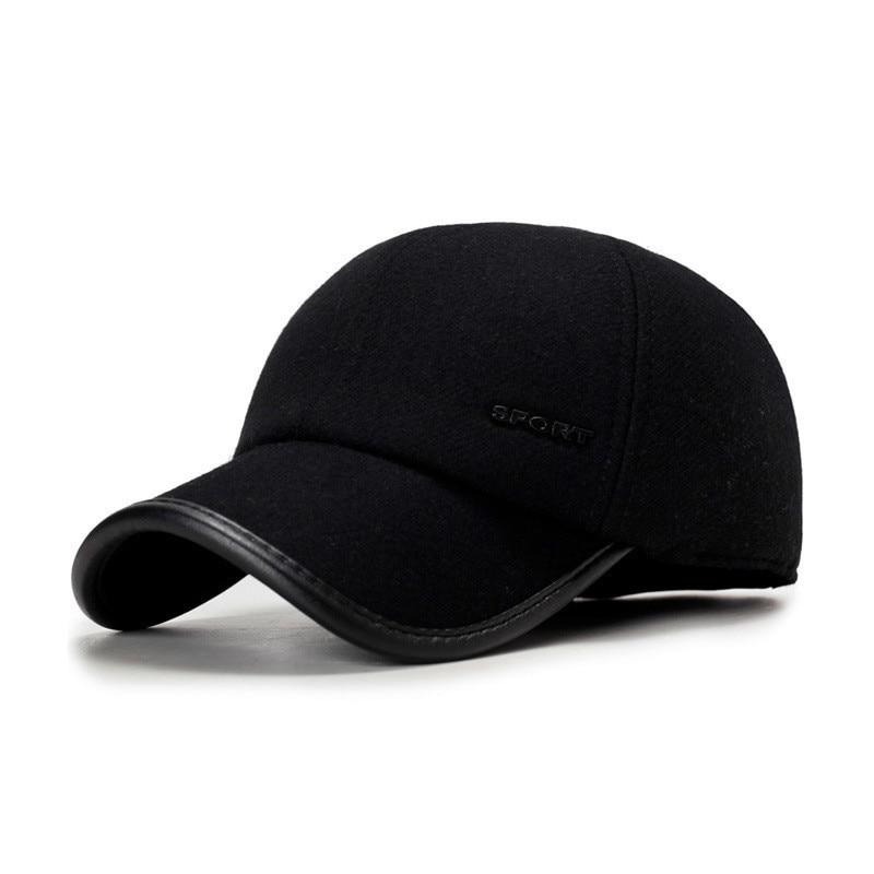 Brand NEW Autumn Winter   Baseball     Caps   For Men With Ear flaps Cotton Thick Warm earmuffs   Cap   Men Dad Hat &   Caps   Casquette