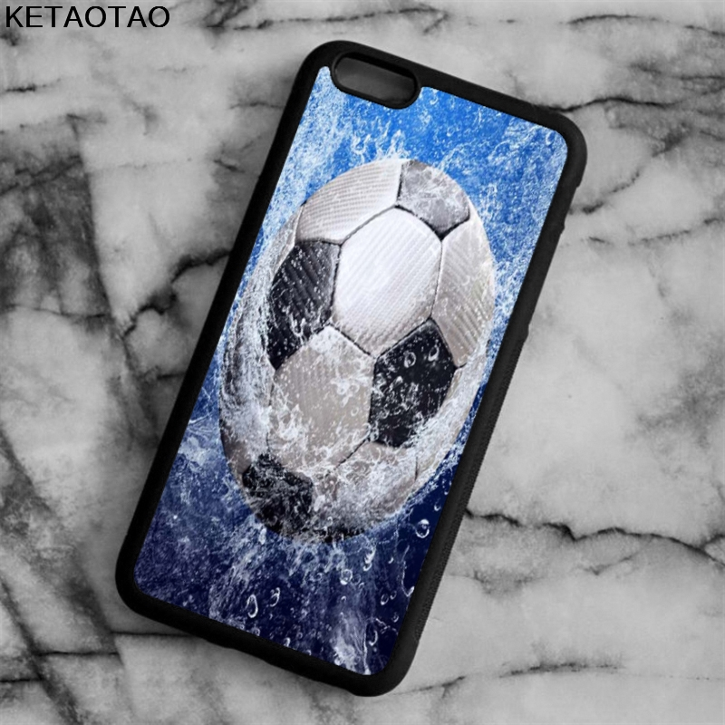 KETAOTAO Football Soccer Ball on water Phone Cases for iPhone 4S 5S 6 6S 7 8 X PLUS for Samsung S8 Case Soft TPU Rubber Silicone