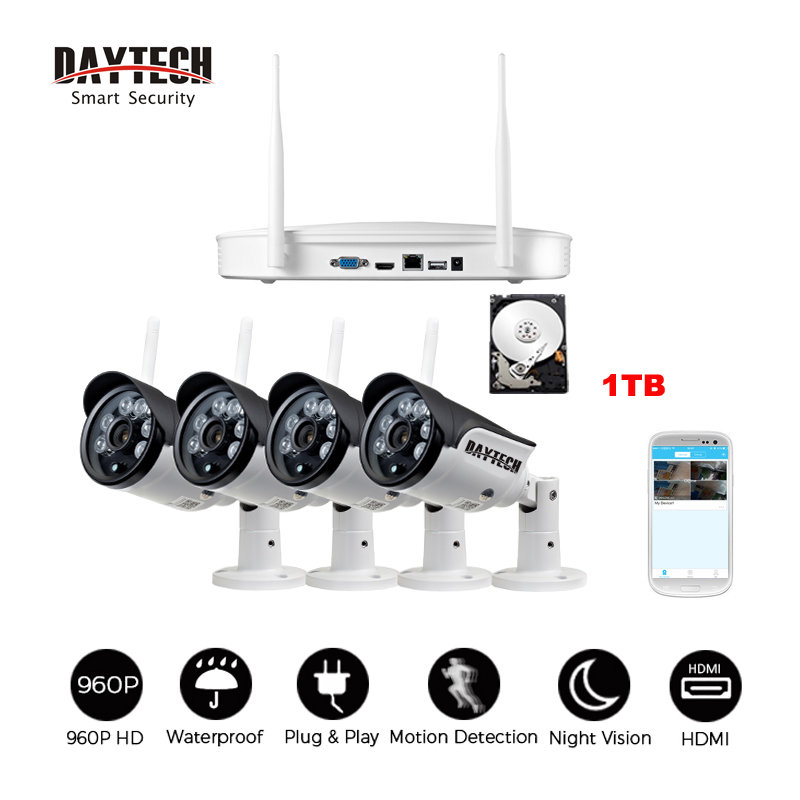 Daytech Surveillance IP Camera WiFi Home Security Camera System NVR KIT Waterproof VGA HDMI Video Network