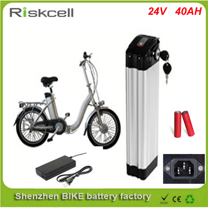 Free customs taxes Top discharge lithium battery 24v 40ah ebike battery pack 24v 40ah li-ion battery with Charger For Sanyo Cell free customs taxes high quality 48 v li ion battery pack with 2a charger and 20a bms for 48v 15ah 700w lithium battery pack