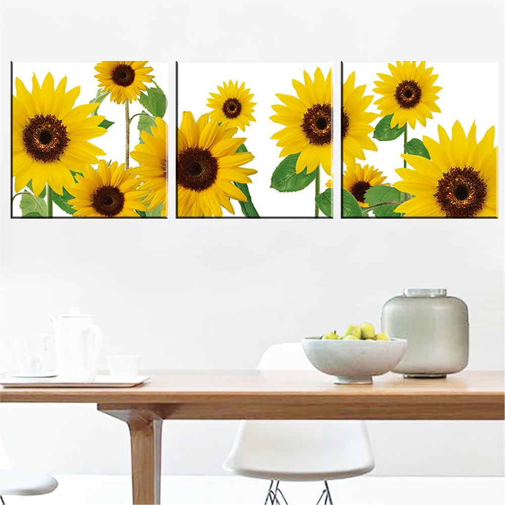No Frame Modern Sunflower Oil Picture Abstract Painting on Canvas ...