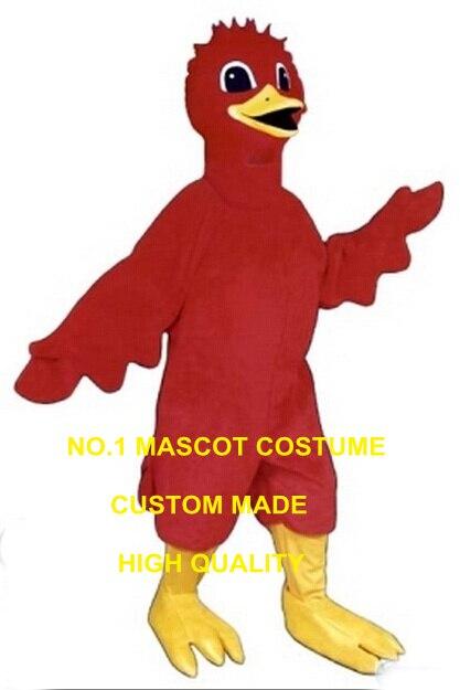 Алые птица талисмана оптовая продажа Лидер продаж красный алый птицы тему аниме маскарадные костюмы Карнавальный нарядное платье комплект