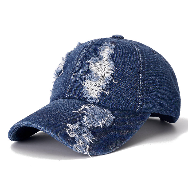 High Quality Denim   Cap   Hole   Baseball     Cap   Leisure Cotton   Cap   For Men And Women Outdoor Sports Streetwear Dad Hat   Cap