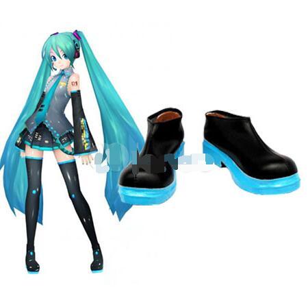 Stylish Vocaloid Hatsune Miku Imitated Leather font b Cosplay b font Shoes