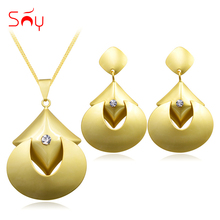 Sunny Jewelry Fashion Jewelry 2018 Women's Earrings Pendant Necklace Jewelry Sets Heart Cubic Zirconia For Party Wedding Daily