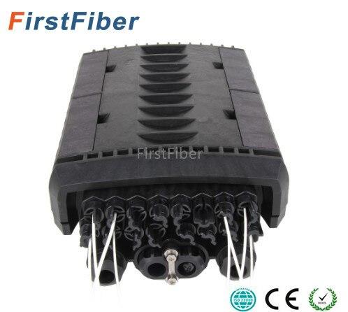 Câble de largage Fermeture 16 core 4 port câble ftth Type fibre Optique Splice & Splitter Fermeture IP68 Étanche fibre boîte de Jonction