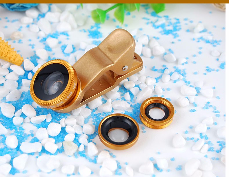 New Fish Eye lens,Wide Angle + Clear Macro Lens For Iphone 5s 6 7 Universal 3 in 1 Phone Camera Len For Sansung Huawei Sony HTC 17